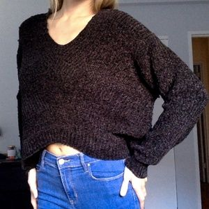 Urban Outfitters cozy grey small v neck sweater